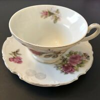 Grant Crest Fine China ROYAL ROSE Tea Cup and Saucer Made in Japan