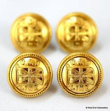 4 x 16mm Commonwealth & Dominion Line Badge Buttons -HARVEYS- Shipping Nautical