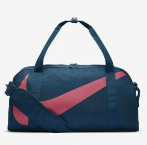 Nike Gym Club Kids Duffel Gym Bag BA5567-432 Blue/Pink NWT