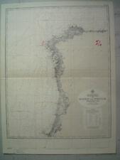 Carte MARINE OCEANOGRAPHIQUE HYDROGRAPHIQUE Ocean Atlantique PORTUGAL & ESPAGNE