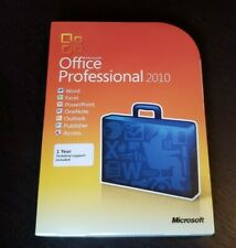 Brand New Microsoft Office Professional 2010 Retail Box Access Publisher Outlook