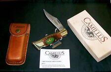 Camillus 11 Lockback Knife & Sheath 1980's American Wildlife Deer Head W/Package