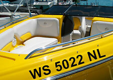 """New Pair Custom 3"""" Boat Registration Numbers Letters Decals Coast Guard Approved"""