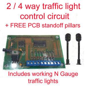 2 / 4 Way Traffic Light Control Circuit Model Railway N gauge inc Traffic lights