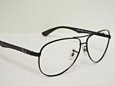 Authentic Ray-Ban RB 8313 002/K7 Black Aviator Sunglasses Frame $323