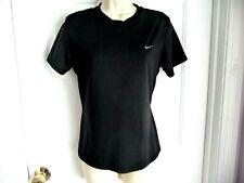 Nike M Shirt Black White Logo Short Sleeves Athletic Workout Running Yoga