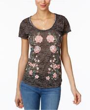 NEW(A8253-30) INC International Concepts Embellished Burnout T-Shirt Sz L $60