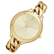 100% New Michael Kors Slim Runway Champagne Dial Gold Women's 42mm Watch MK3222
