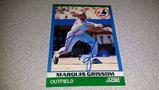 MARQUIS GRISSOM AUTOGRAPHED AUTHENTIC HAND SIGNED SCORE MONTREAL EXPOS BALL CARD