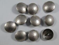 Metall  Knopf Knöpfe 10 stück  altsilber gehämmert     25 mm   #1138#
