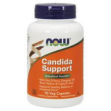 NOW Foods Candida Clear 90 Veg Capsules   Caprylic Acid Oregano Oil Olive Leaf