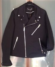 LOUIS VUITTON MENS $2360 BLACK 100% COTTON BIKER JACKET SZ.50 NWTAG 🇮🇹
