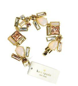 Kate Spade New York Bracelet Baguette Chunky Sparkly Bridal Blush/Multi Pastel