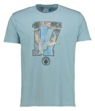 Mens LARGE Official MANCHESTER CITY Player T Shirt DE BRUYNE Top Football MCT19