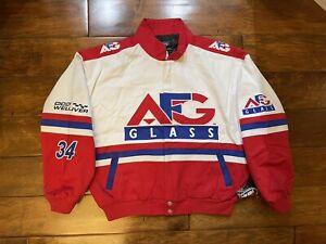 David Green #34 AFG Glass Racing Race Jacket Mens Size XXLarge NASCAR New Chase