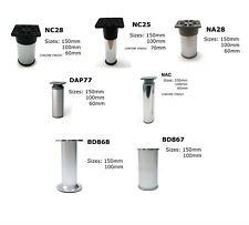 More details for aluminium round feet plinth cabinet legs cupboard kitchen furniture