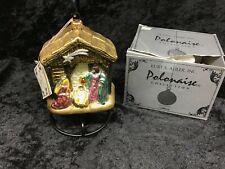 Kurt Adler Polonaise Nativity Glass Christmas Ornament by Komozja