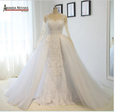 Hot Sale Amanda Novias Real Photos Wedding Dresses Custom size 6-8-16+++