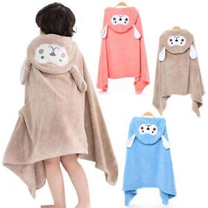 Kids Hooded Bath Towels Shower Towel For Baby Girls Boys Children Soft Warm