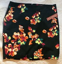 Merona Print Lined Skirt NWT Size 14 Cotton Spandex Blend For Comfort
