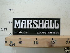 STICKER,DECAL MARSHALL EXCLUSIVE EXHAUST SYSTEMS