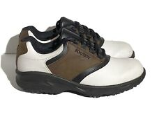 Footjoy Junior G1 Golf Shoe Size 4M White Brown