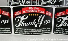 50 eBay etsy Thank You For Your Purchase FB Shipping Label Labels Stickers 2x3
