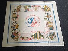 1964-65 New York World's Fair Unisphere and Exhibits/Pavilions Cotton Tablecloth