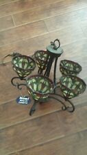 Kichler Stained Glass 5 Light Chandelier & Matching Ceiling Light