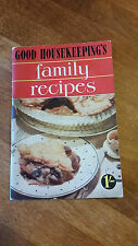Vintage Recipe / Cookery Book – Good Housekeeping's Family Recipes – Great! –