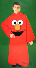 Sesame Street Comfy Throw Blanket W/Sleeves Snuggie ROBE RED ELMO MUPPETS NEW