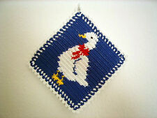 """Topflappen """"Gans"""", Blau (Handarbeit) / Potholder """"Goose"""" (Handmade)"""