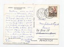 M764-PERUGINO ISOLATO SU CARTOLINA 1952