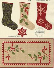 Holiday Trio applique quilt pattern by Edyta Sitar of Laundry Basket Quilts