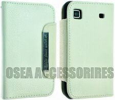 SAMSUNG GALAXY I9000 S1 PELLE CASE Wallet CUSTODIA COVER FLIP BACK calzino Gel Duro