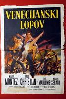 THIEF OF VENICE JOHN BRAHM MARIA MONTEZ 1950 RARE EXYU MOVIE POSTER
