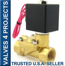 "1/2"" 110V/120V AC 230 PSI Electric Solenoid Valve Brass FKM/VITON B22V"