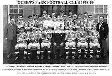 QUEEN'S PARK F.C. TEAM PRINT 1958-59 ( ALEX FERGUSON / OMAND / CLARK ))