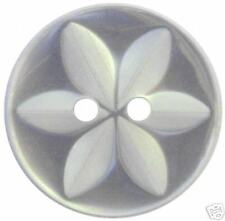 100 x WHITE STAR baby buttons size 26 (17mm)