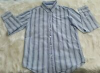 Aeropostale Mens Size Small 100% Cotton Shirt Blue Long Sleeve Button Down I-12