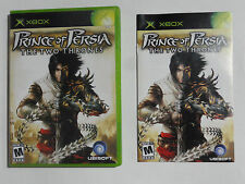NO GAME- XBOX PRINCE OF PERSIA TWO THRONES - CASE & MANUAL ONLY -NO GAME