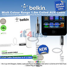 Belkin MixIt Colour Range 1.8m Coiled AUX Cable White AV10126cw06-WHT