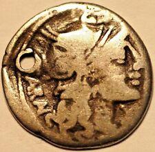 Ancient Roman Republic Coin . Silver Denar ND