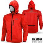 Mens Cycling Waterproof Rain Jacket Hi Visibility Running Top Hooded Coat S-XXL