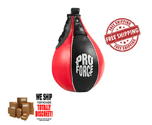 ProForce Leather Speed Bag for Boxing Karate Training in Red