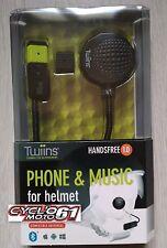 Kit main libre Twiins pour casque moto, scooter anti bruit et activation vocale
