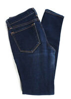 J Brand Medium Blue Wash Cotton Distressed Cut Out Low Rise Skinny Jeans Size 25