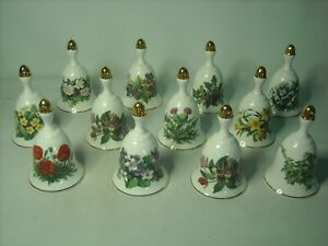 Choose 1 OR MORE Royal Botanic Gardens WILDFLOWER BELL Month Collection Bells