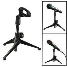 Adjustable Tripod Desktop Table Microphone Mount Holder Stand Support & Mic Clip
