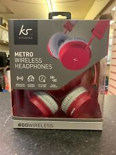KitSound Metro Bluetooth Headphones - Red